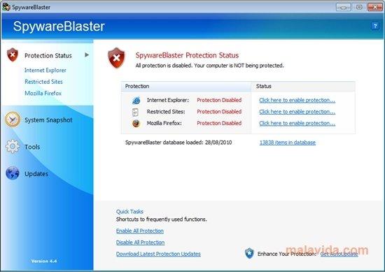 SpywareBlaster image 4