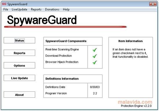 SpywareGuard image 3