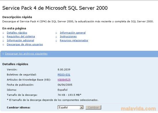 Sql server 2000 sp4 service pack 4 download for pc free.