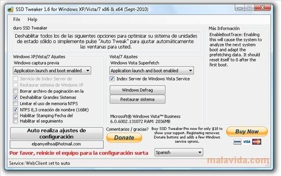 SSD Tweaker image 2