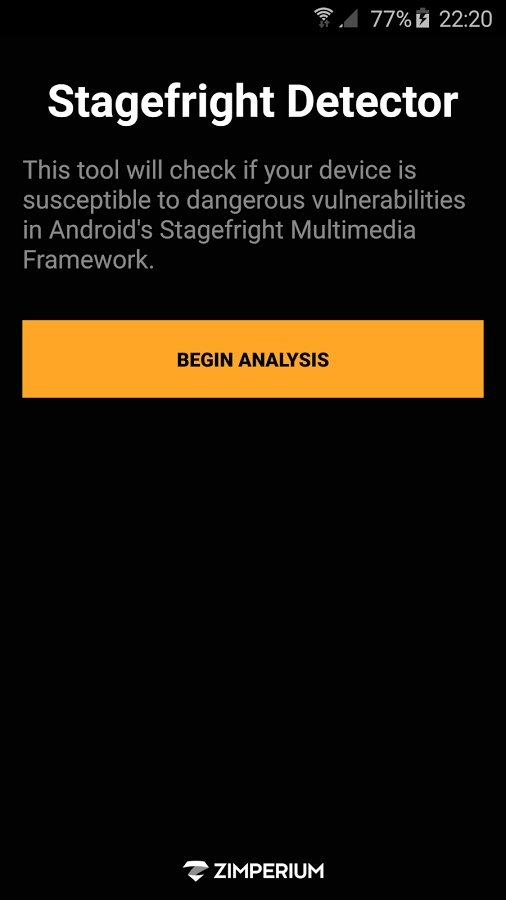 Stagefright Detector App Android image 2