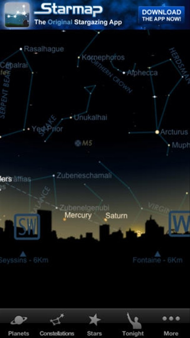 Download Starmap Lite IPhone Free - Star map now