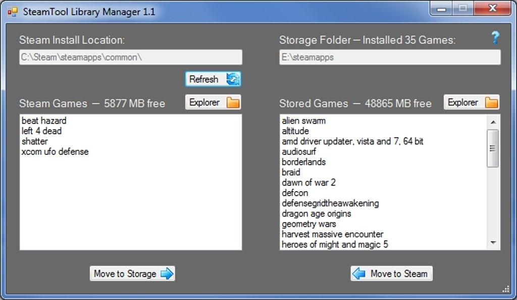 SteamTool Library Manager image 4
