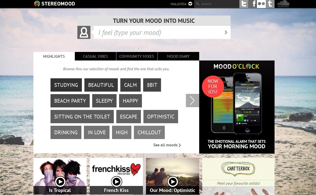 Stereomood Webapps image 5