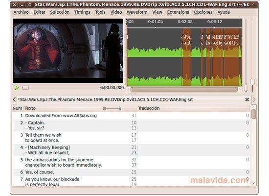 Subtitle Editor Linux image 6