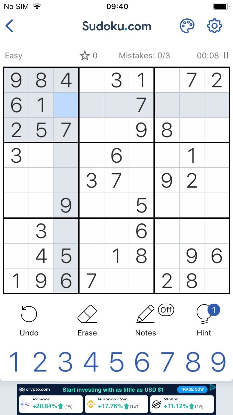 sudoku classic sudoku puzzle game 1 1 2 iphone用ダウンロード無料