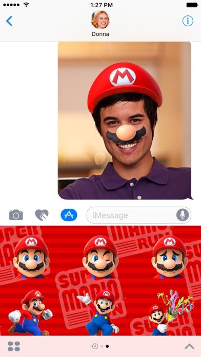 Super Mario Run Stickers - Download for iPhone Free