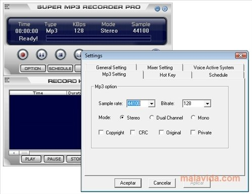 Super MP3 Recorder Pro 6 2 - Download for PC Free