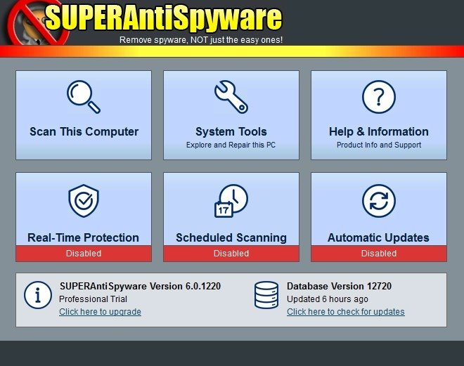SUPERAntiSpyware Free 6.0.1194