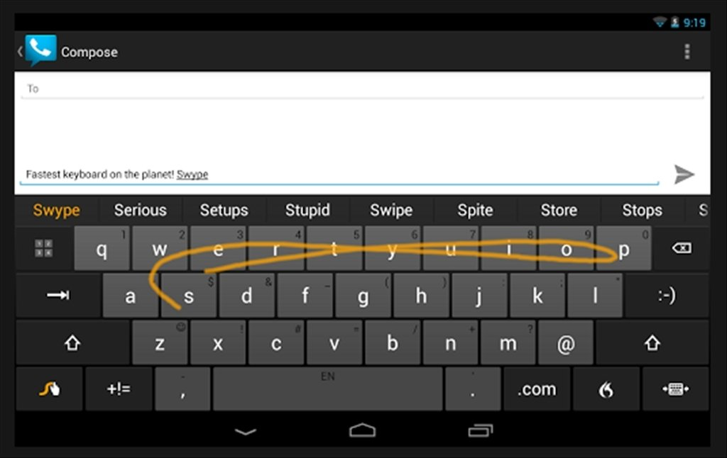 Swype Android image 7