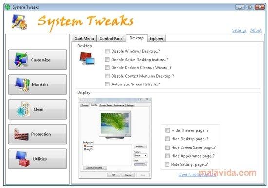 System Tweaks image 4