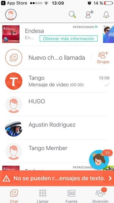 Tango Voice, Video, and Text iPhone image 5