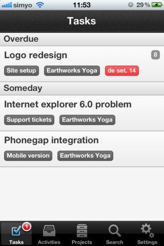 Teambox iPhone image 5