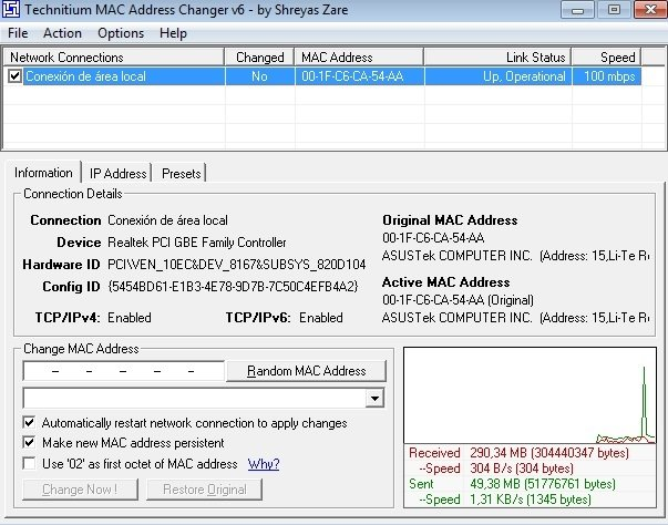 Technitium MAC Address Changer image 3