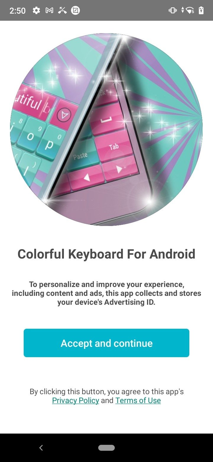 Colorful Keyboard Android image 3