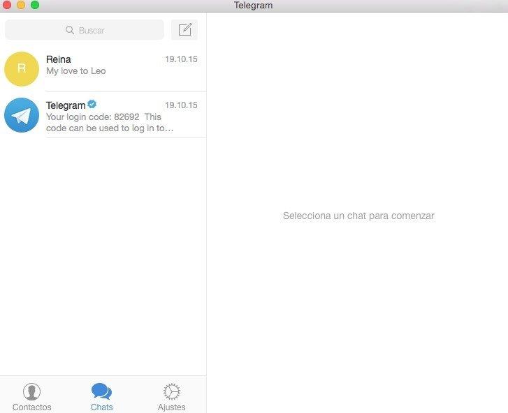 aplicația telegram osx