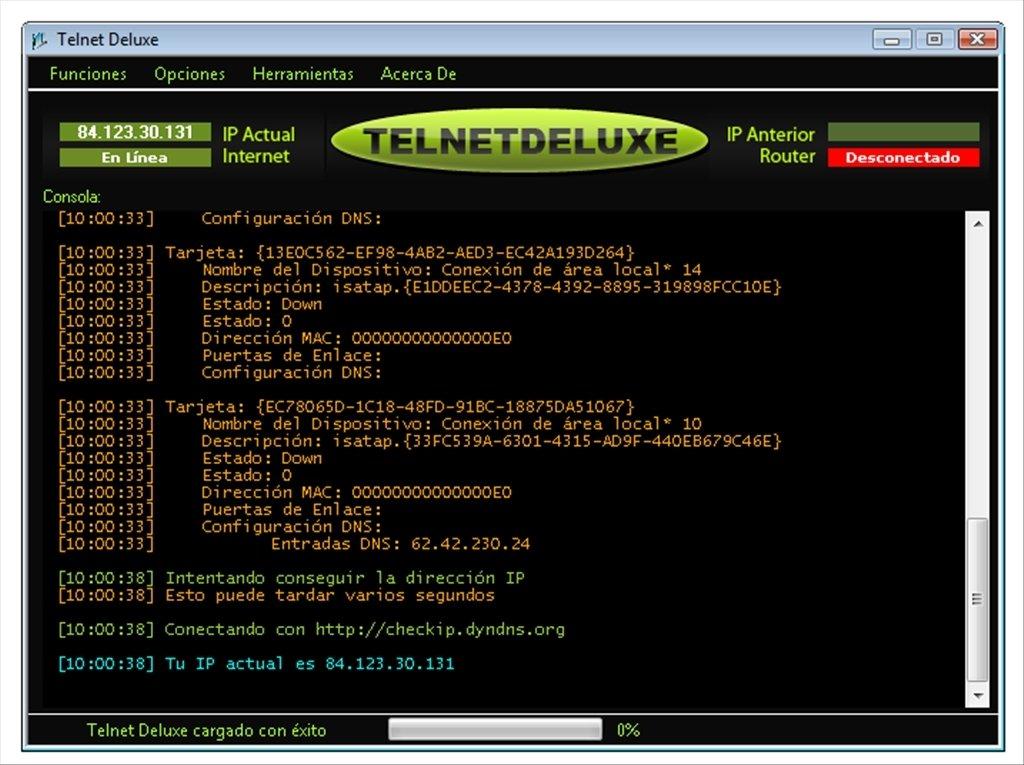 gratis telnet deluxe 0.5 beta