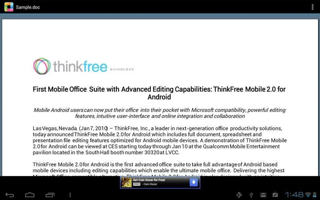 ThinkFree Office Mobile Viewer 5 0 121217 - Download for