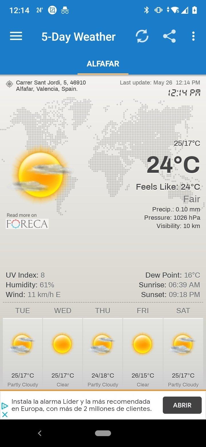 Weather & Clock Widget Android image 7