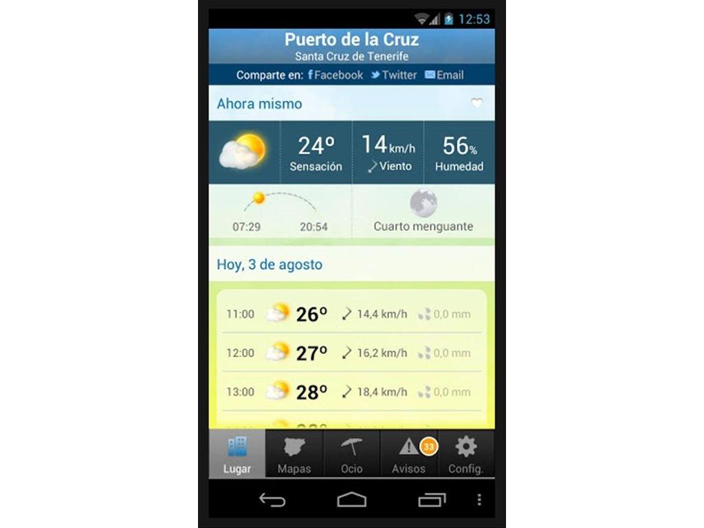 descargar el clima en mi celular