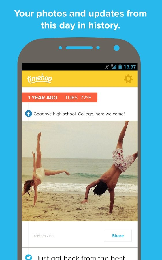 Timehop Android image 4