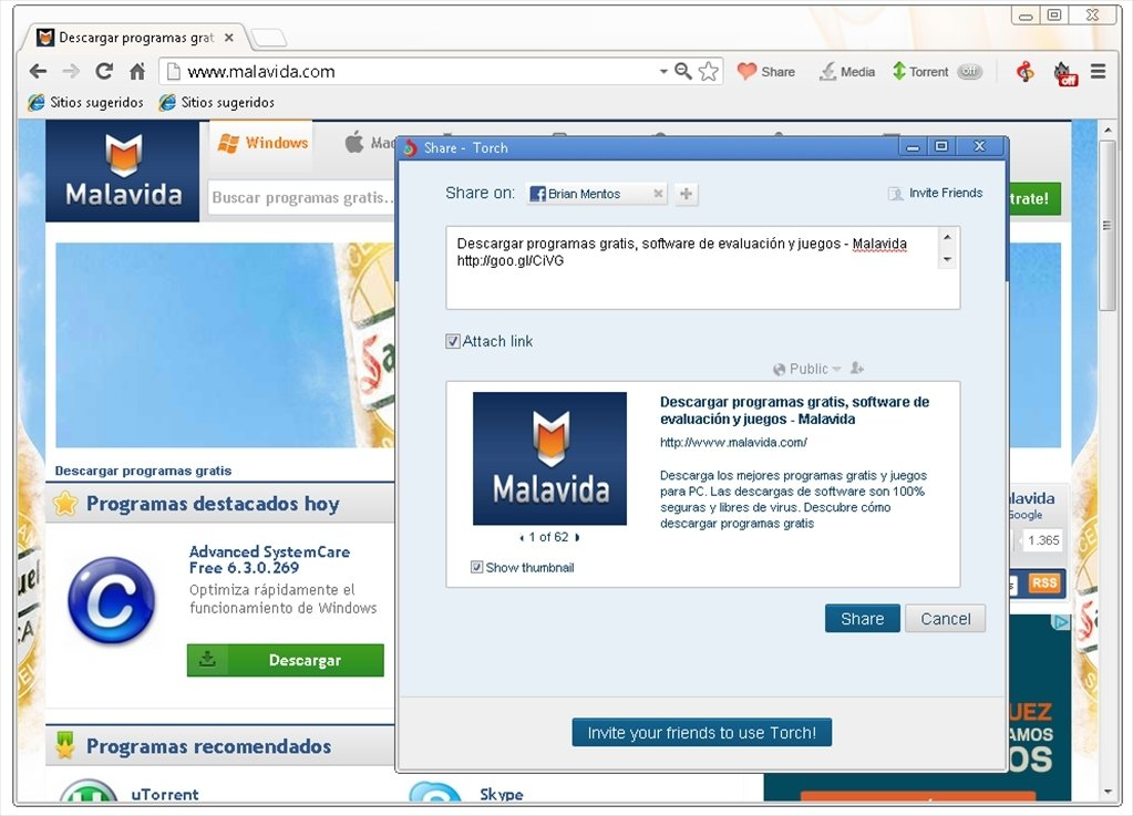 navigateur torch windows 7