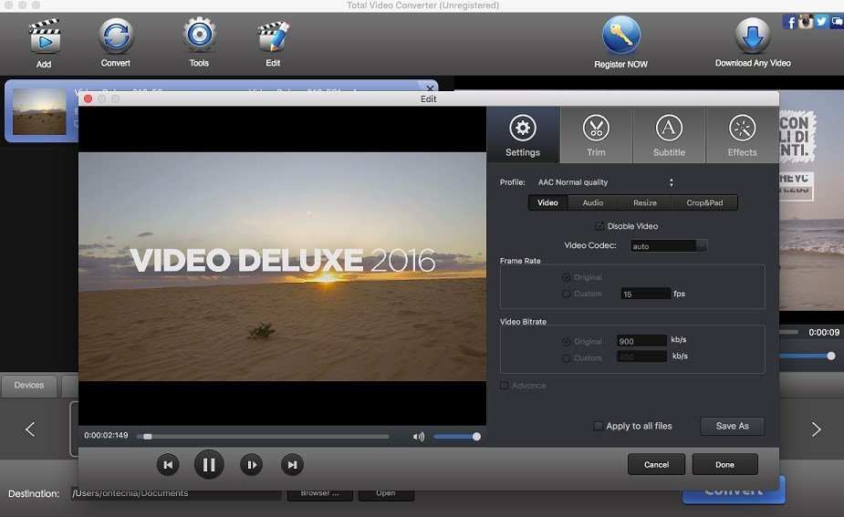 Total Video Converter 4 3 6 - Download for Mac Free