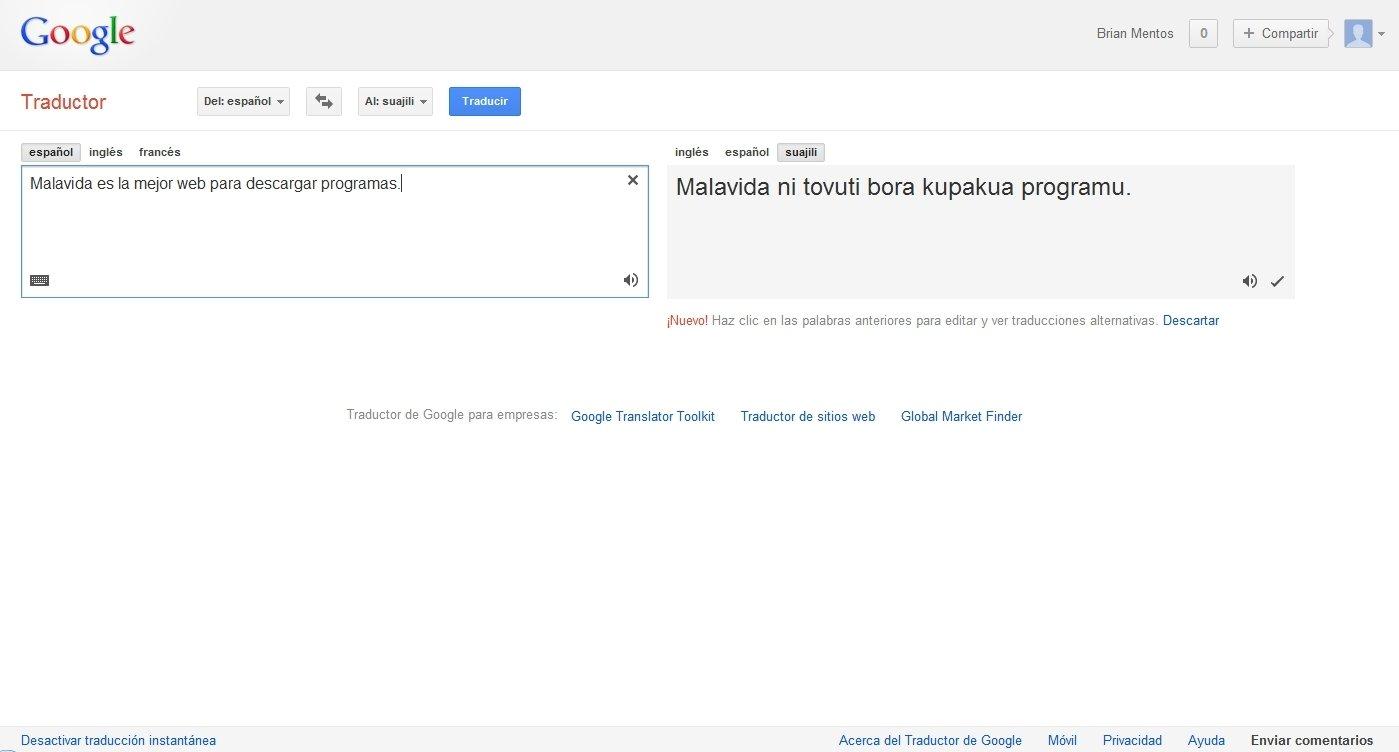 Traductro de google