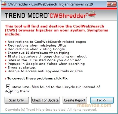 Trend Micro CWShredder image 4