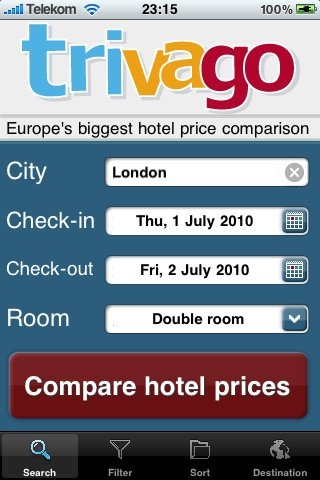 trivago iPhone image 5