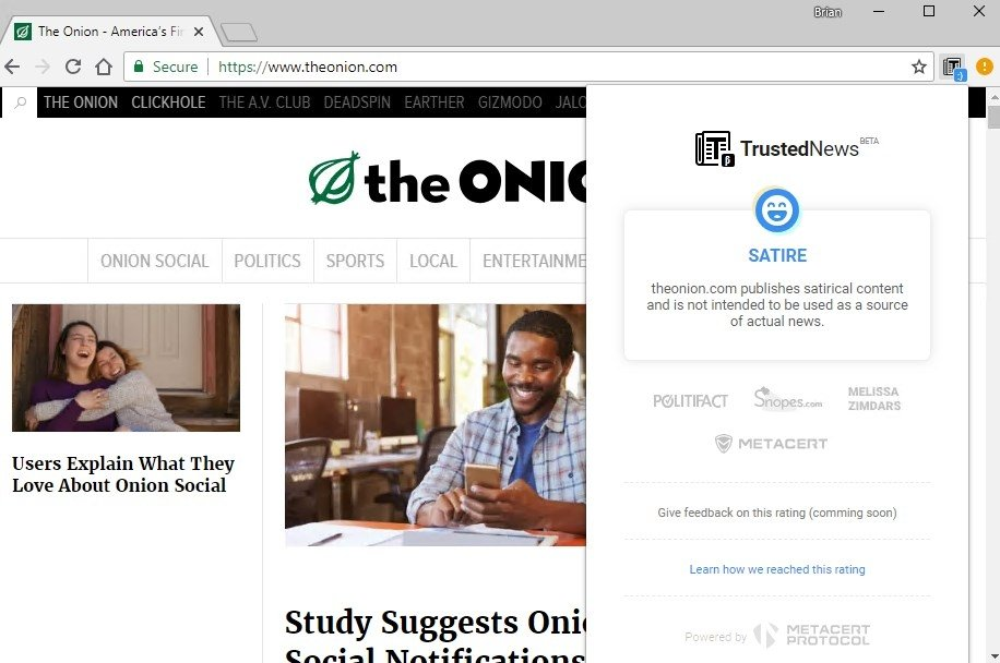 Trusted News for Google Chrome 1 0 6 - Download for PC Free
