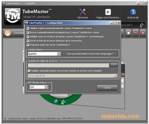 tubemaster windows 7