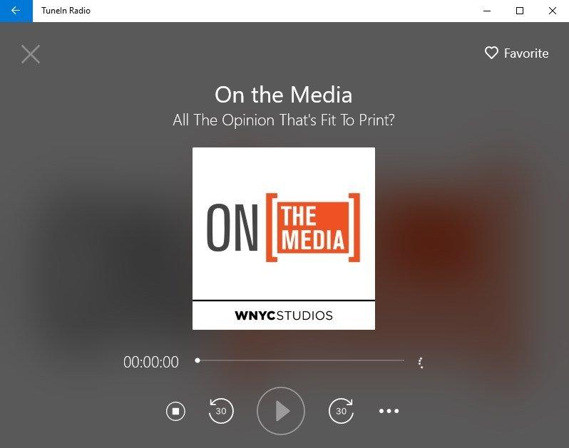 free download tunein radio for pc