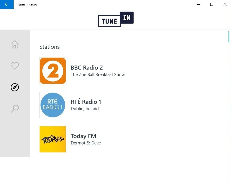 tunein radio free download for windows 7