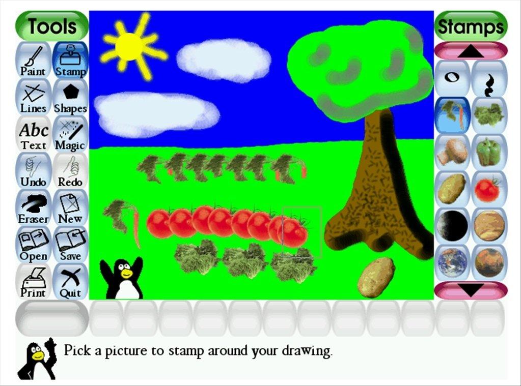 Tux Paint Linux image 4