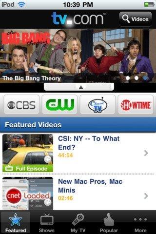 TV.com iPhone image 4