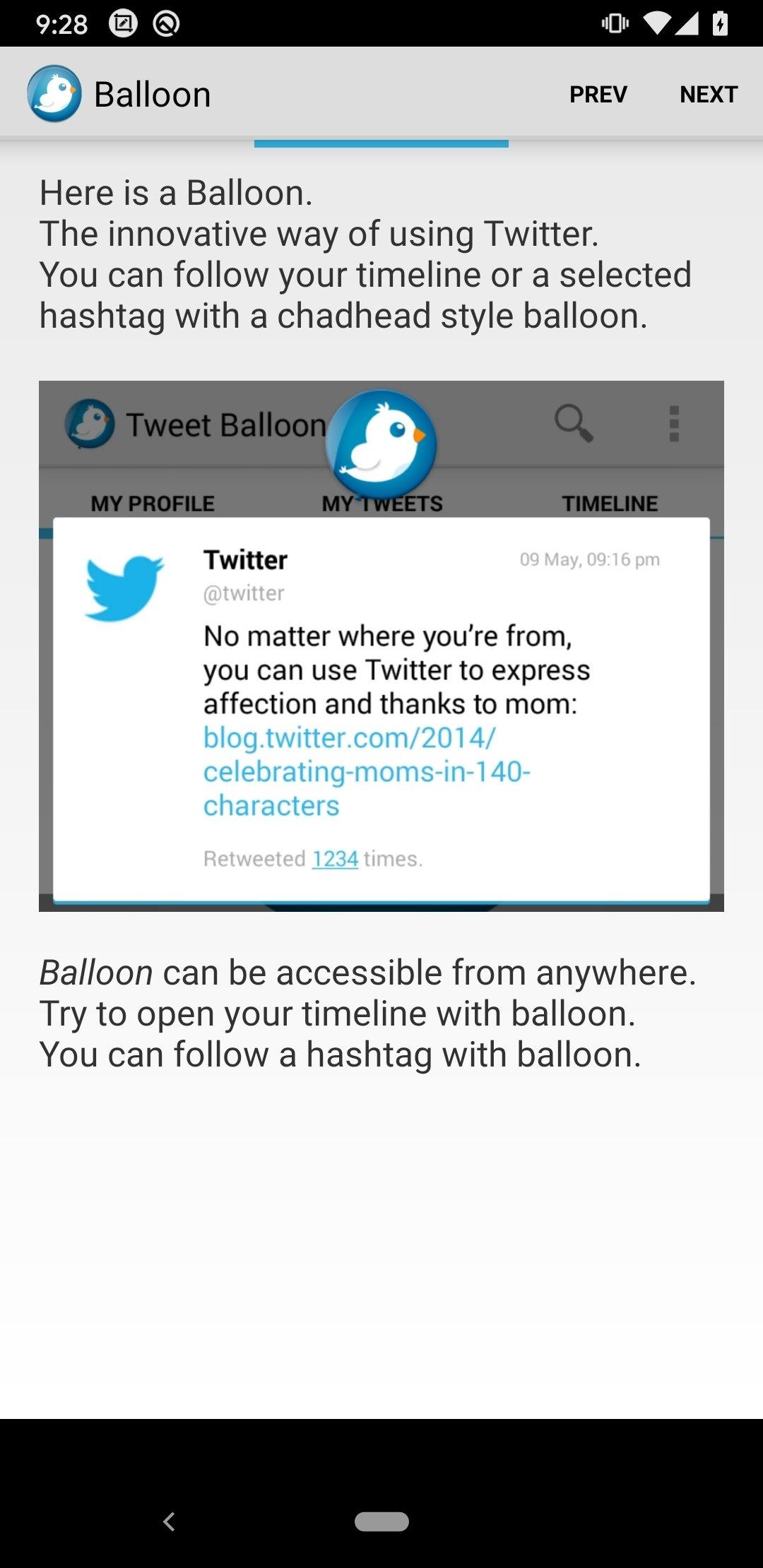 Tweet Balloon Android image 6
