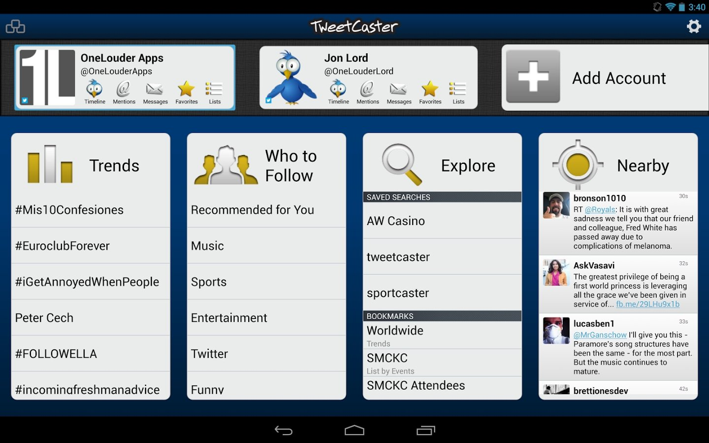 Opinions about TweetCaster