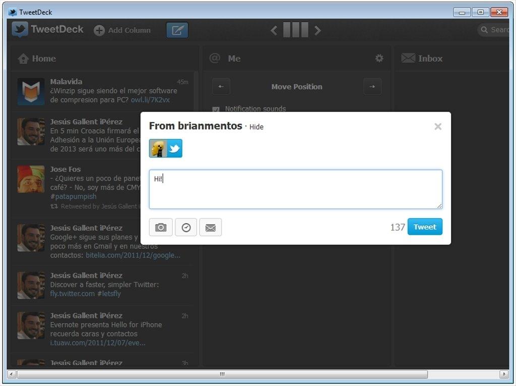 TweetDeck Desktop 3 9 633 - Download for PC Free
