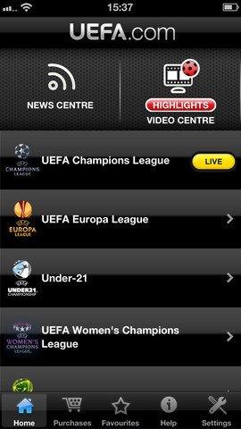 UEFA.com iPhone image 5