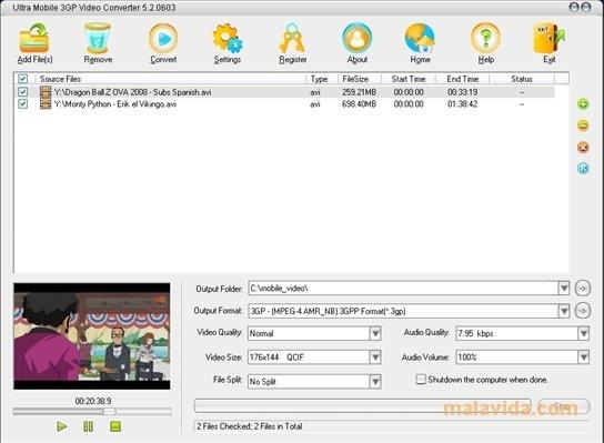 ultra mobile 3gp video converter 5.3.0402