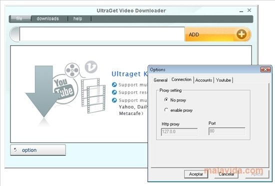 UltraGet Video Downloader 5 7 6 - Download for PC Free