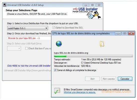 universal usb installer pour linux