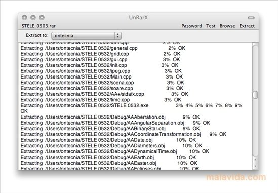 UnRarX Mac image 3