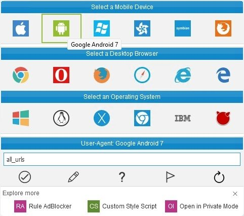 User Agent Switcher 0 2 4 - Download for PC Free
