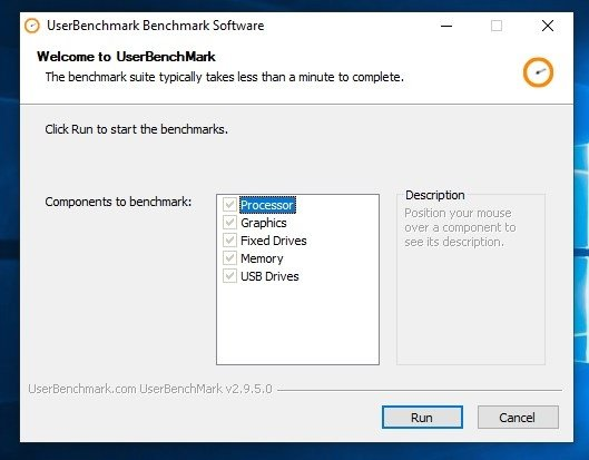 UserBenchmark 2 9 5 0 - Download for PC Free