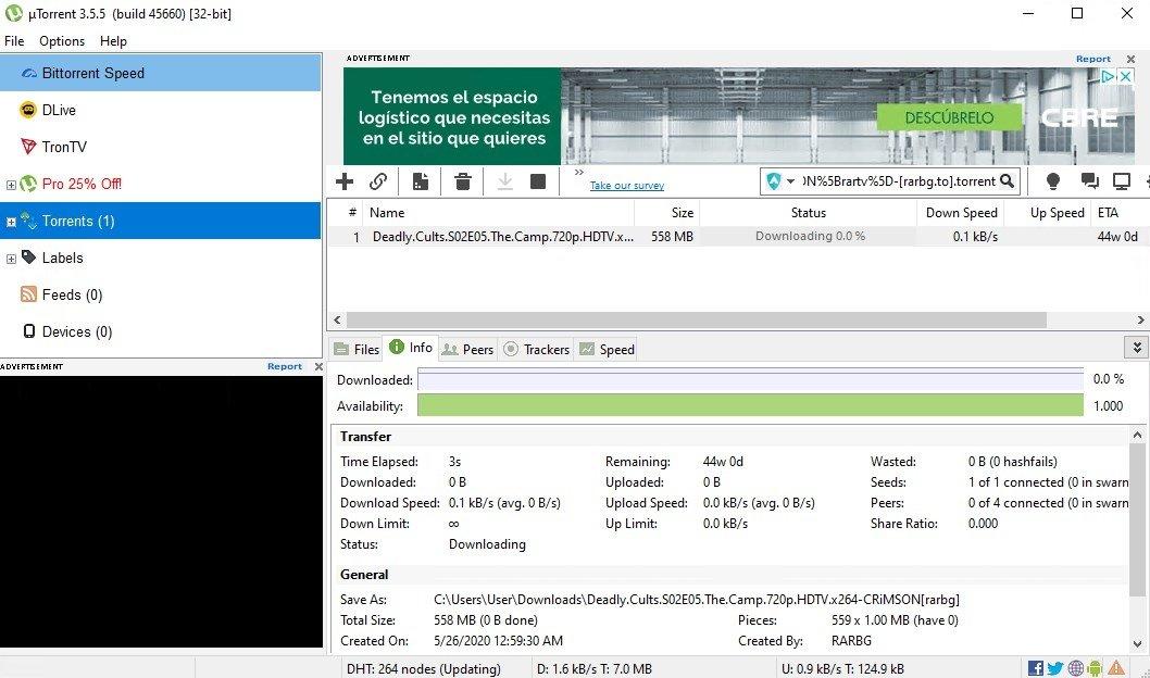 uTorrent (µTorrent) 3.4.5 41202