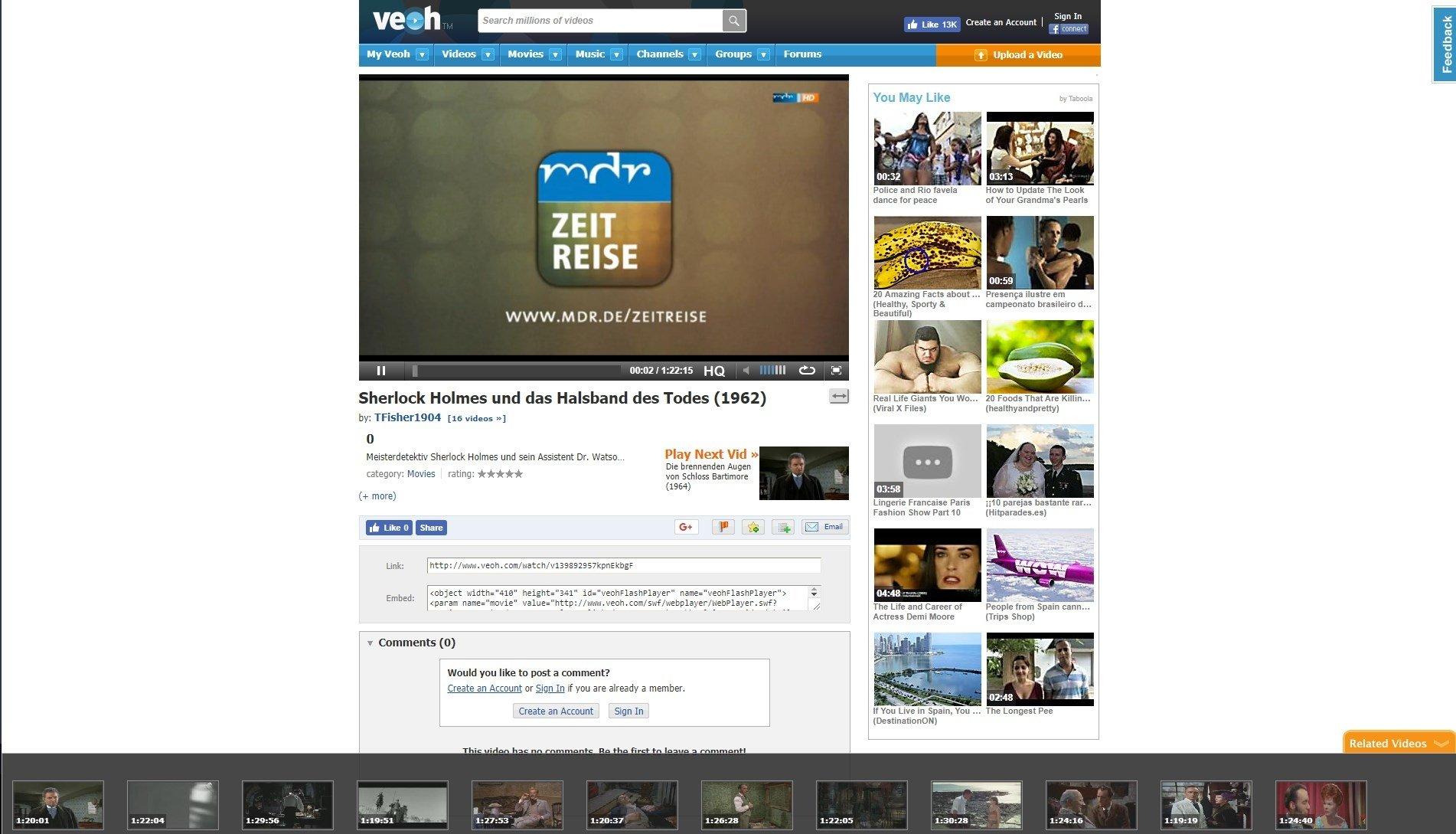 Veoh | online content analysis.