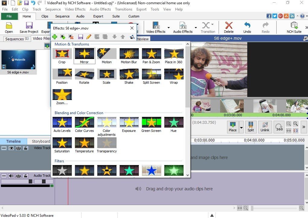 VideoPad Video Editor 8.56 - Download for PC Free