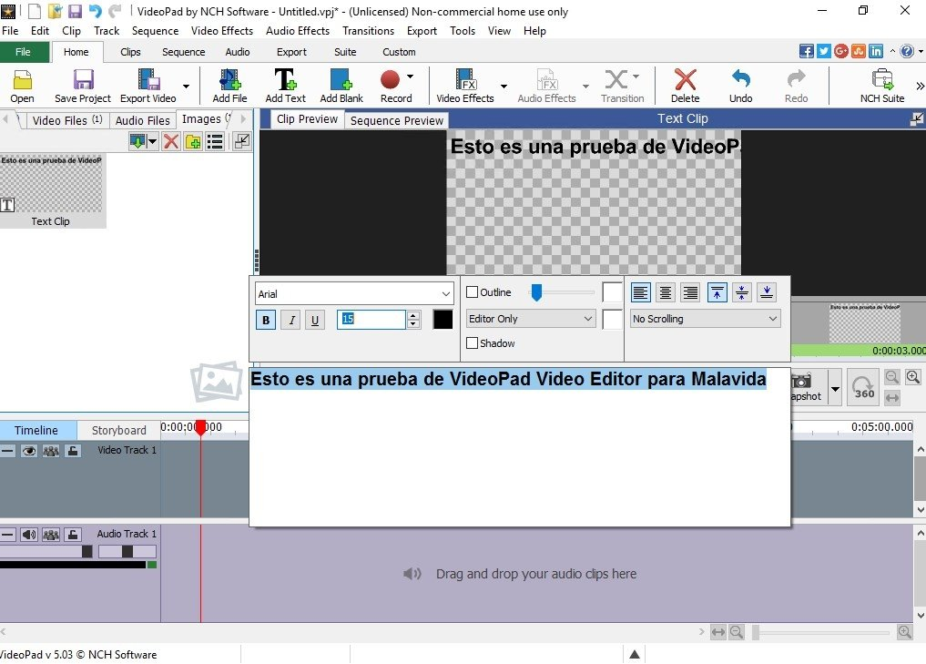 VideoPad Video Editor 6 26 - Download for PC Free